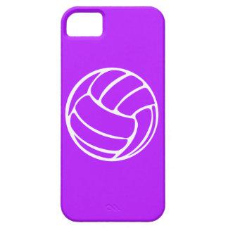 blanco del voleibol del iPhone 5 en púrpura iPhone 5 Fundas