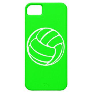 blanco del voleibol del iPhone 5 en verde iPhone 5 Funda