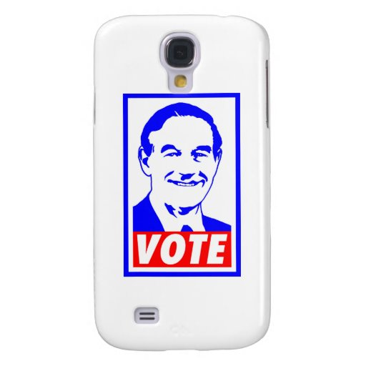 Blanco del voto 2012 de Ron Paul y azul rojos