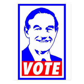 Blanco del voto 2012 de Ron Paul y azul rojos Tarjeta Postal
