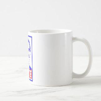 Blanco del voto 2012 de Ron Paul y azul rojos Taza De Café