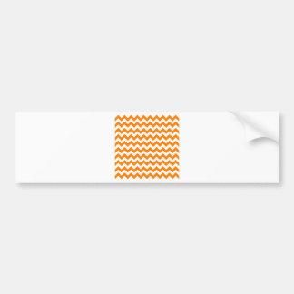 Blanco del zigzag I y anaranjado pequeños Pegatina Para Coche