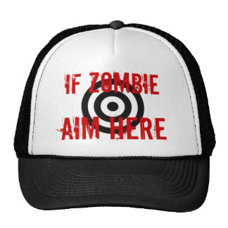Blanco del zombi gorras