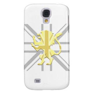 Blanco desenfrenado de Union Jack del león Funda Para Galaxy S4