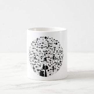 Blanco el doodling blanco clásico de la naturaleza taza clásica