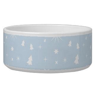 Blanco elegante de los azules cielos del modelo de tazón para perro