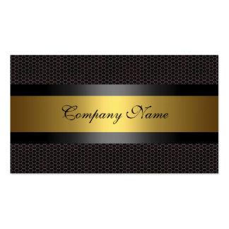 Blanco elegante del negro del metal del oro plantillas de tarjeta de negocio