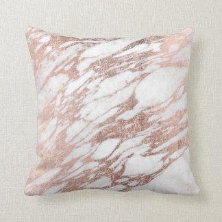 Blanco elegante elegante y modelo color de rosa cojín