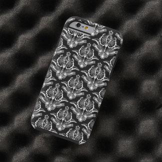 Blanco elegante en los damascos florales del art funda de iPhone 6 tough