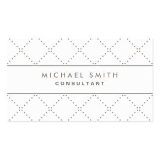 Blanco elegante profesional de la moda del tarjetas de visita