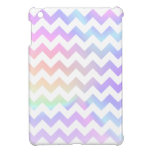 Blanco en colores pastel Chevron del arco iris iPad Mini Funda