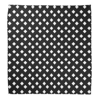 Blanco en diseño del diamante negro bandanas
