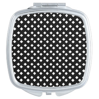 Blanco en diseño del diamante negro espejos maquillaje