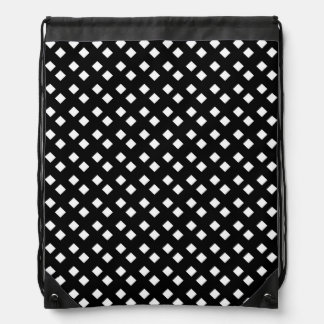 Blanco en diseño del diamante negro mochilas
