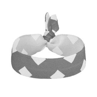 Blanco en diseño del diamante negro elástico para el pelo