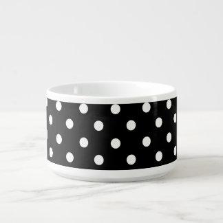Blanco en diseño negro del punto tazón