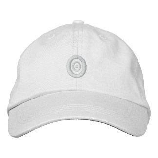 Blanco en el gorra concéntrico blanco del bordado gorros bordados