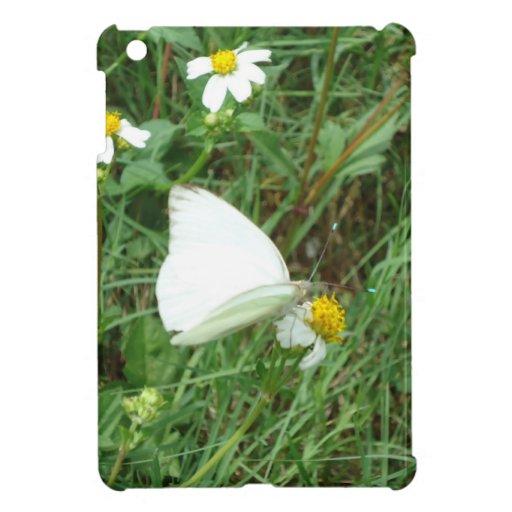 Blanco en el mini caso del iPad verde