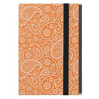 Blanco en el modelo retro anaranjado de Paisley iPad Mini Cobertura