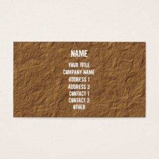 Blanco en el pergamino arrugado tarjeta de negocios