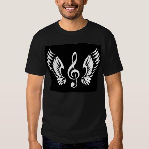 Blanco en la camiseta negra del logotipo remeras