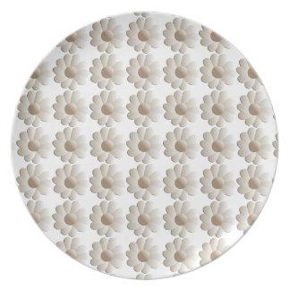 Blanco en la placa de la margarita blanca platos de comidas
