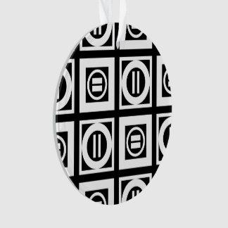 Blanco en modelo geométrico negro del signo de