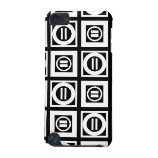 Blanco en modelo geométrico negro del signo de funda para iPod touch 5G