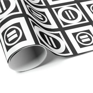 Blanco en modelo geométrico negro del signo de papel de regalo