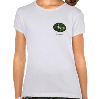 Blanco en nombre verde camisetas