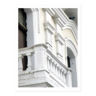Blanco español de la arquitectura tarjetas postales