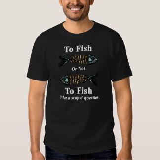 Blanco esquelético a los pescados o no pescar polera