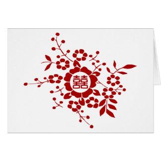 Blanco • Flores de corte de papel • Felicidad dobl Felicitacion