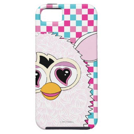 Blanco Furby de Yeti iPhone 5 Cárcasas