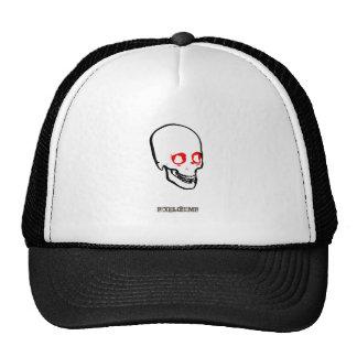 Blanco gráfico del cráneo gorras de camionero