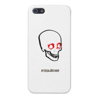 Blanco gráfico del cráneo iPhone 5 carcasa