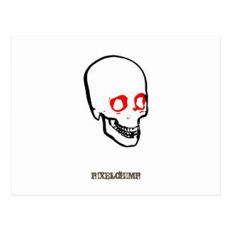 Blanco gráfico del cráneo postal