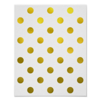 Blanco grande del lunar de la hoja metálica de la posters