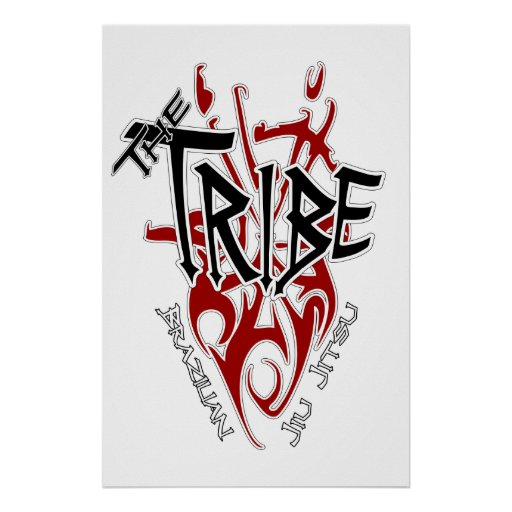"Blanco grande del poster de la tribu [22,86"" x 34,"