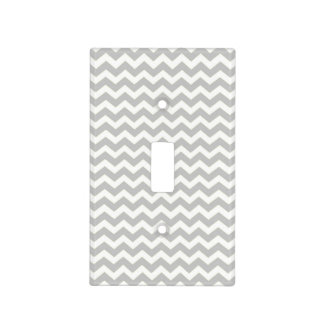 Blanco gris Chevron Tapas Para Interruptores