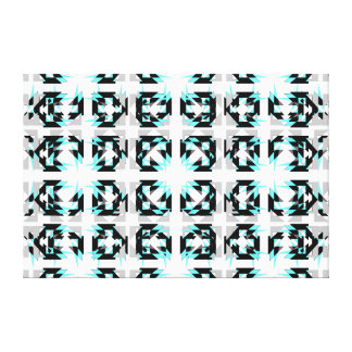 Blanco gris de la turquesa moderna tribal de las lona envuelta para galerías