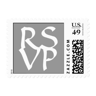 Blanco gris elegante del sello de RSVP