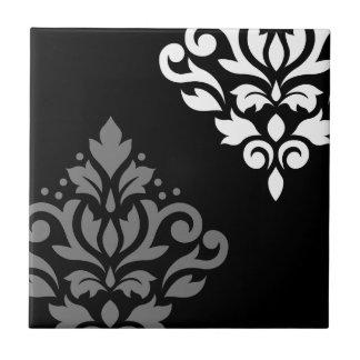 Blanco gris negro del arte I del damasco de la Azulejo Cuadrado Pequeño