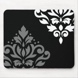 Blanco gris negro del arte I del damasco de la Alfombrilla De Raton
