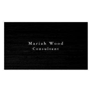 Blanco gris profesional del fondo de madera tarjetas de visita
