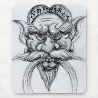 Blanco GROTESCO del negro de la MÁSCARA de la Mouse Pad