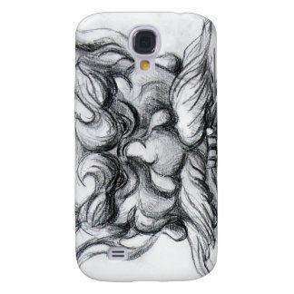 Blanco GROTESCO del negro de la MÁSCARA de la Samsung Galaxy S4 Cover