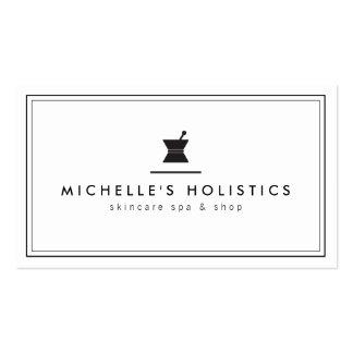Blanco holístico de la medicina del boticario tarjetas de visita
