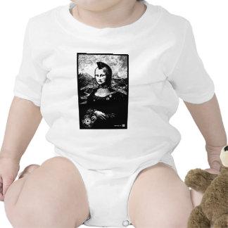 Blanco infantil de la enredadera de Mona Traje De Bebé