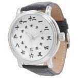 Blanco japonés del reloj del zodiaco del kanji